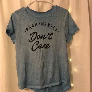 """Graphic Tee """"Permanently don't care"""""""